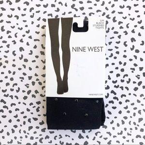 Nine West Black Studded Tights Small Medium
